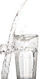 Glass vatten med tappad beeing för vatten Royaltyfri Bild