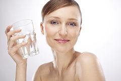 glass vattenkvinna Arkivfoto