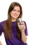 glass vattenkvinnabarn Royaltyfri Bild