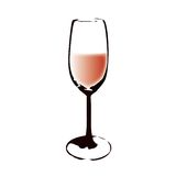 A glass (vector). Drawing a glass (cmyk to rgb Royalty Free Stock Photo