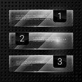 Glass vector banners set Stock Images