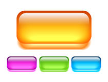 Glass vector button Stock Image