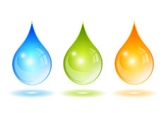 Glass vector drops Stock Images