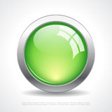 Glass vector web button Stock Image