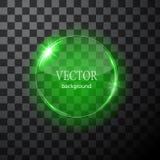 Glass vektorcirkelnivå Lätt redigerbar bakgrund Arkivbild
