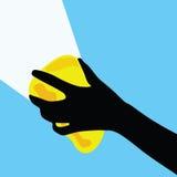 Glass vektorillustration för lokalvård i färg Arkivfoton