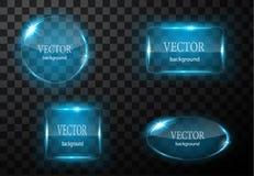 Glass vektorknappnivå Lätt redigerbar bakgrund Royaltyfria Bilder