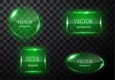 Glass vektorknappnivå Lätt redigerbar bakgrund Royaltyfri Bild