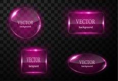 Glass vektorknappnivå Lätt redigerbar bakgrund Arkivbilder