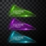 Glass vektorknappnivå Lätt redigerbar bakgrund Royaltyfri Foto