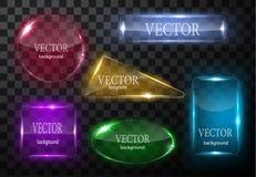 Glass vektorknappnivå Lätt redigerbar bakgrund Royaltyfri Fotografi
