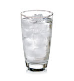 Glass of very cold water Royalty Free Stock Photo