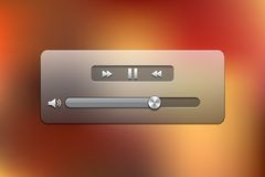 Glass Video Player for Web Stock Photo