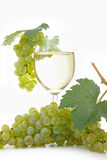 Glass of vine and grape Stock Photography