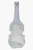 Glass violin bottle Stock Photo
