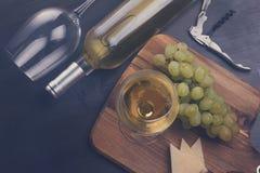 glass vit wine Arkivbild