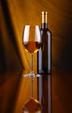 glass vit wine Royaltyfri Foto