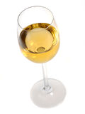glass vit wine Arkivfoto