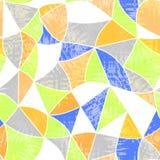 Glass vitrage mosaic kaleidoscopic seamless grunge pattern backg Stock Photos