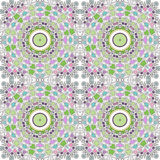 Glass vitrage mosaic kaleidoscopic seamless pattern Royalty Free Stock Photo