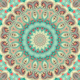 Glass vitrage mosaic kaleidoscopic seamless pattern Stock Photography