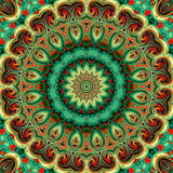 Glass vitrage mosaic kaleidoscopic seamless pattern Stock Images