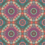 Glass vitrage mosaic kaleidoscopic seamless pattern background Stock Image