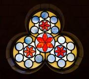 Glass vitragefönster royaltyfria bilder