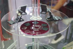 Glass wafer. Close-up of glass wafer. Exhibition sales in Shenzhen Convention and Exhibition center Stock Photography