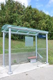 Glass waiting shed Royalty Free Stock Image