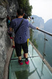 Glass Walkway on Tianmen Shan China Stock Photos