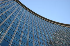 Glass wall. Of a curvy office building Royalty Free Stock Image