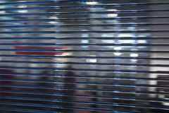 Glass wall. Close up view on office glass wall stock images