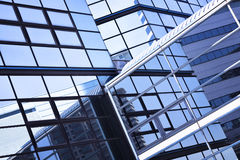 Glass wall background, futuristic architecture, office building facade Royalty Free Stock Photography
