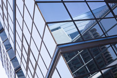 Glass wall background, futuristic architecture, office building facade Royalty Free Stock Photo