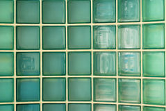 Glass wall brick Stock Photo