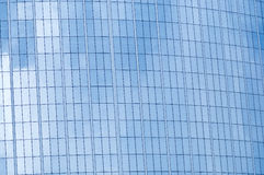 Glass wall of business cente Royalty Free Stock Image