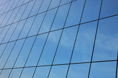 Glass wall of business center Royalty Free Stock Images