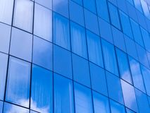 Glass wall in modern architecture royalty free stock photos