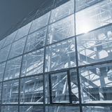 Glass wall of the modern building. Royalty Free Stock Photos