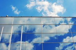 Glass wall of the modern business office building. Abstract arch Royalty Free Stock Image