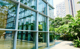 Modern office Glass building Stock Photo