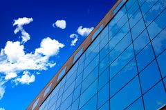 Glass wall of office building. stock images