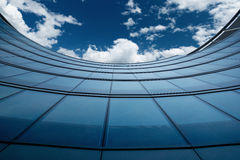 Glass wall of an office building Royalty Free Stock Image