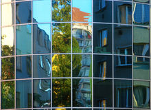 Office building in Prague. Glass wall of office building Royalty Free Stock Photography
