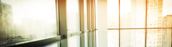 Glass wall in the office Royalty Free Stock Photo