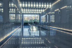 Glass wall in the office building Stock Photography
