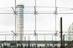 Glass wall in the office building Royalty Free Stock Images