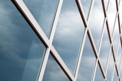 Glass wall of an office building Royalty Free Stock Images