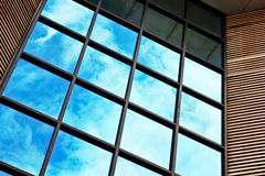 Glass wall of office building Royalty Free Stock Photos
